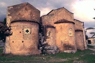 L'église Byzantine d'Agios Georgios à Kournas