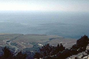 Die Straße von Imbros nach Hora Sfakion