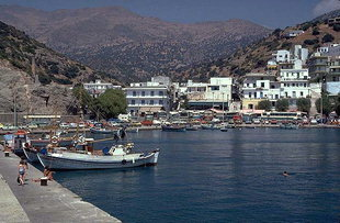 The harbour and town of Agia Galini