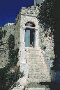 The stairs of the Chrisoskalitissa Monastery