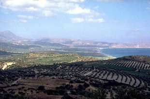 Kissamos Bay and the vineyards of Kastelli