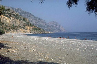 The beach in Sougia