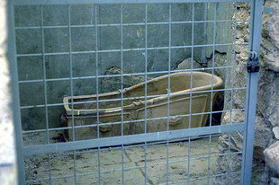 A Minoan bathtub in Knossos