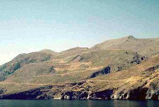 Die Zick-Zack Strecke nach Anopolis von Hora Sfakion