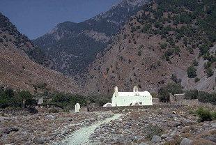 The Byzantine church of Agia Triada in Agia Roumeli