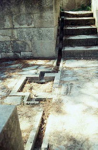 The water channel in the East Bastion, Knossos