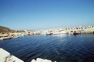 The harbour in Milatos