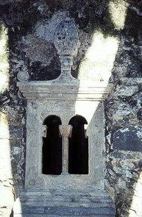 A window in Agia Ekaterini Church in Voulismeni