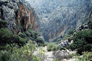 The gorge of Agiofarago