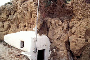 The cave chapel of the Panagia in Matala