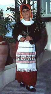 Cretan costume from the area of Sfakia